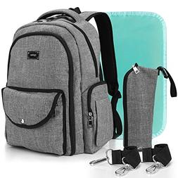 Diaper Bag Backpack for Dad and Mom, Apiker Unisex Water Res