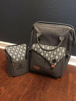 Lekebaby Diaper Bag Backpack And Matching Bottle Carrier