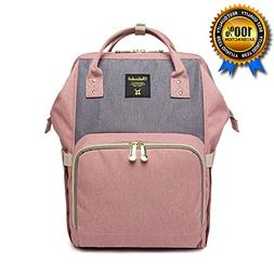 Diaper Bag Backpack with Changing Mat & Straps, Large Capaci