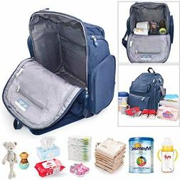 7cc8a07aa56ab Diaper Bag Backpack Baby Changing Pad Lightweight Large Napp