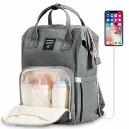 SUNVENO Diaper Bag Backpack Baby Nappy Changing Bag Insulate
