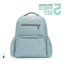 SoHo Diaper Bag Backpack Blake Chevron 5 Pieces Nappy Tote B