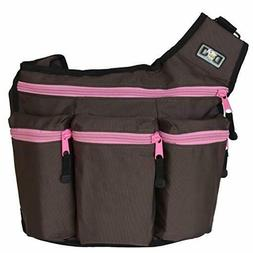 Diaper + cross body messenger bag for men