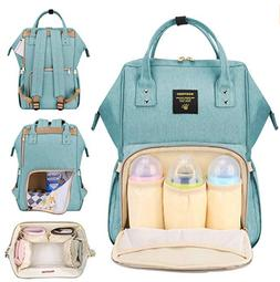 SUNVENO Diaper Bag Backpack Functional Baby Nappy Changing B
