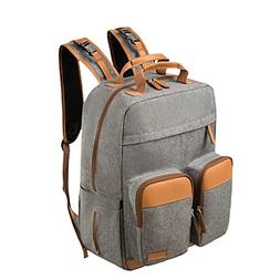 Lekebaby Diaper Bag Backpack for Mom and Dad with Diaper Cha