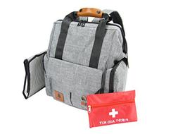 Little Spruce Diaper Bag Backpack with Child First Aid Kit |