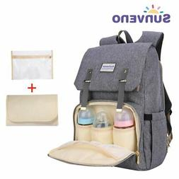 SUNVENO Diaper Bag Backpack Large Waterproof Nappy Changing
