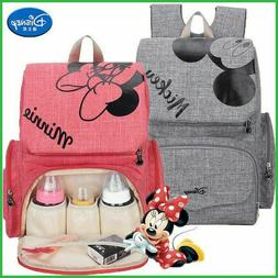 Diaper Bag Backpack Mickey mouse Baby Minnie Mouse Large Cap