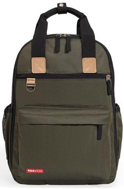 Skip Hop Duo Baby Diaper Bag Backpack w/ Changing Pad Olive