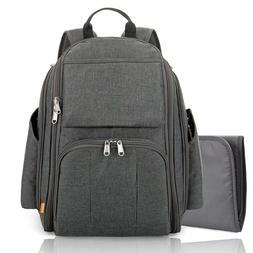 Diaper Bag Backpack w/ Changing Station Multi-function Mater