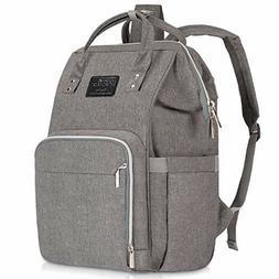 Diaper Bag Backpack Waterproof Grey Gray Large Insulated Bab