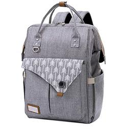 Lekebaby Diaper Bag Backpack with Stroller Straps and Changi
