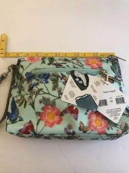 Diaper Bag Clutch Floral Bird Pattern Changing Pad Water Res