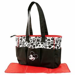 Diaper Bag Large Multi-Compartment Disney Mickey Mouse Black