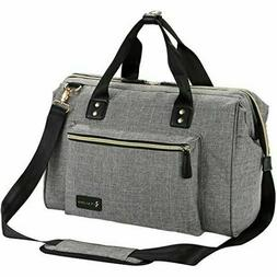 Diaper Bag, RUVALINO Large Tote Stylish for Mom and Dad Conv