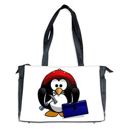 Diaper Bag Little Round Penguin - Handy Man Construction Bui