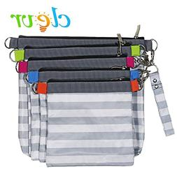 Clevr Diaper Bag Organizer Pouches, 4 Mesh and 1 Wet Bag, Se