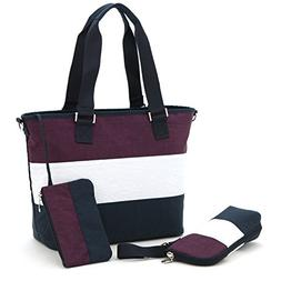 Diaper Bag Fashion Stripe Hand Bags Shoulder Bag Multi-Funct