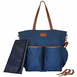 Diaper Bag Tote Large Unisex Stylish Travel Baby Mom And Dad