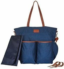 Diaper Bag Tote Large Unisex Stylish Travel Baby Bag by Hip