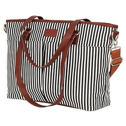 Diaper Bag by Hip Cub - Designer Messenger - W/ Stylish Stri