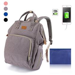 Diaper Bag Waterproof Travel Backpack for Baby Care with Str