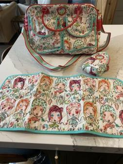 Oilily Diaper bag with Bottle Carrier and Changing Pad Skipp