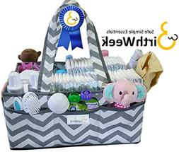 BirthWeek EXTRA LARGE Diaper Caddy Bag Organizer with SPILL