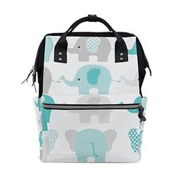 Baby Diaper Nappy Bag Travel Backpack Mommy Bag Elephants fo