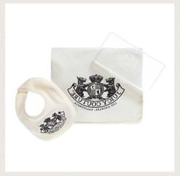 Juicy Couture Unisex Travel Diaper Set - Bib, Changing Pad,
