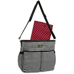 """Baby Essentials """"Simple Stripes"""" Diaper Tote Bag with Changi"""