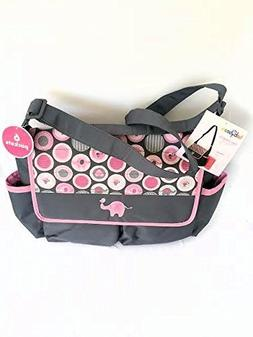 Diaper Tote Bag with Changing Pad, Babyboom 6 pocket with El