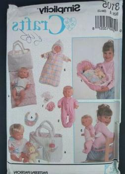 Simplicity doll clothes & accesories pattern 8105 diaper bag
