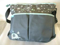 Baby Boom Elephant Print Tote Diaper Bag 7 Pockets Without C
