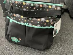 Baby Boom Elephant Tote Diaper Bag Hearts Stars Adorable!