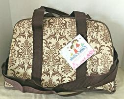 Ellie & Luke Diaper Tote Bag Brown Paisley with Changing Bad