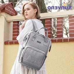 Sunveno Fashion Diaper Bag Backpack Quilted Large Mum Matern