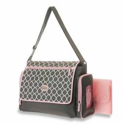 Baby Boom Flap Messenger Diaper Bag with Quick Find System,