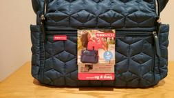 Skip Hop Forma Pack & Go, 4 piece blue quilted fabric diaper