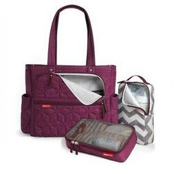 Skip Hop Forma Pack & Go Tote Diaper Bag Tote, Berry Purple,