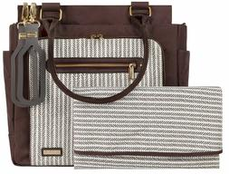 JJ Cole Freeman Baby Diaper Bag Dashed Stripe with Changing
