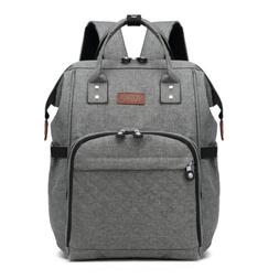Grey Mummy Changing Bag Baby Diaper Nappy Backpack Multi-Fun