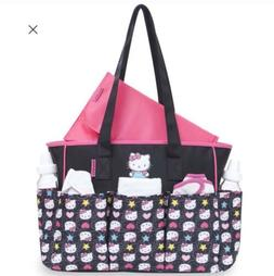 HELLO KITTY Large Diaper Tote Bag 7 Pockets W/Changing Pad P
