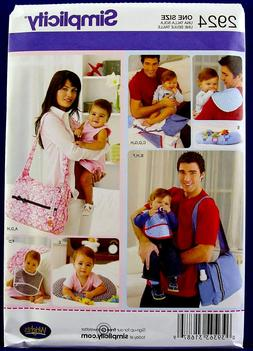 SIMPLICITY HIS AND HERS DIAPER BAGS *SEWING PATTERN*