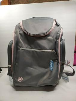 Jeep J Is For Places And Spaces Back Pack Diaper Bag, Grey/P