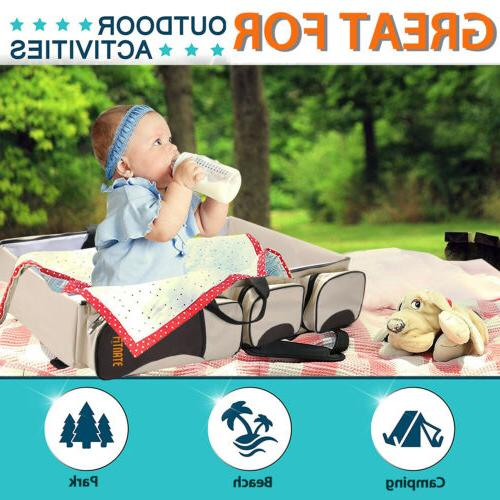 Large Diaper Tote Bag Portable Travel and Change Station 3 in1