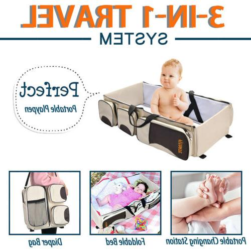 Large Diaper Bag Portable Bassinet and Change Station in1