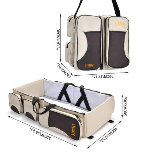 Large Capacity Diaper Bag and Station 3 in1