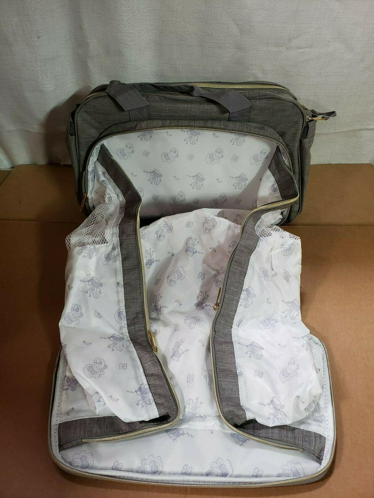 4-in-1 Convertible Diaper Bag Baby Bag -Includes