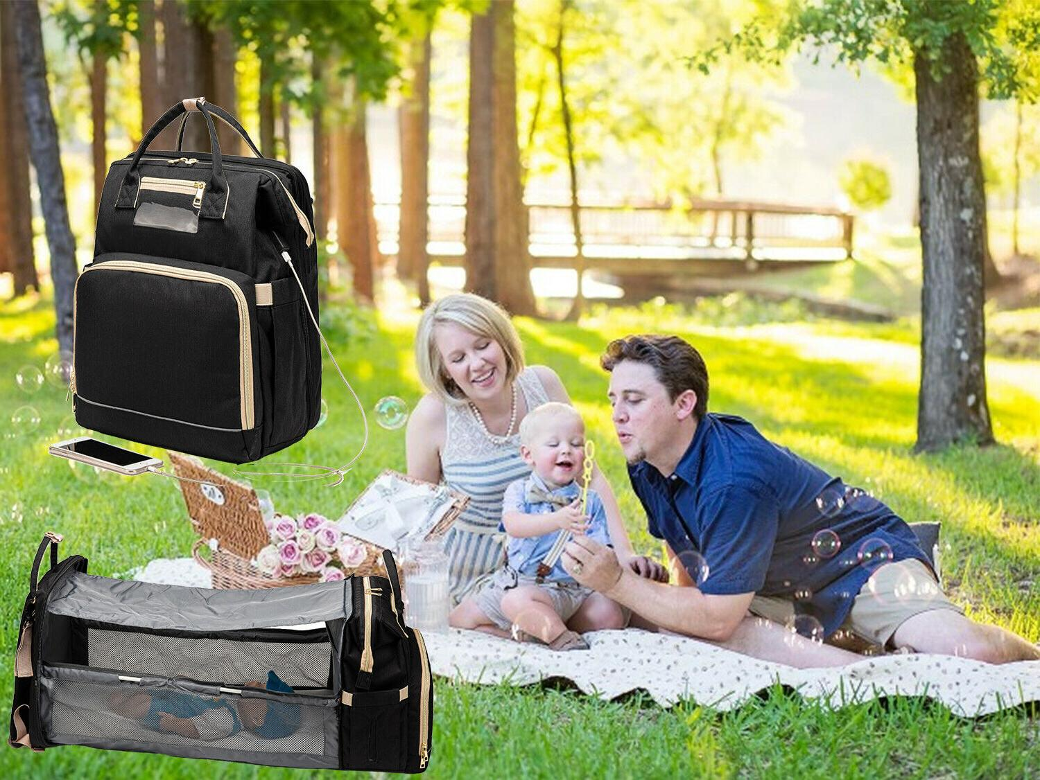 5-in-1 Travel Bassinet Foldable Baby